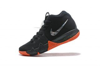 promo code c1dd6 b53c3 Delicate Nike Kyrie 4 Black Silver Orange 943806 010 Men s Basketball Shoes
