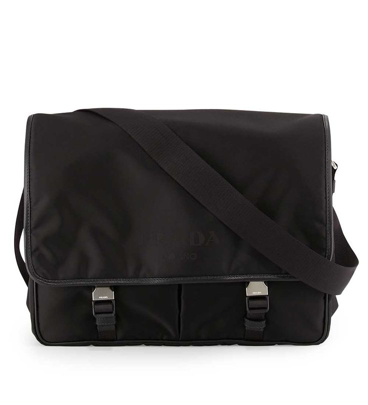 Prada Large Nylon Messenger Bag Black               $225.00