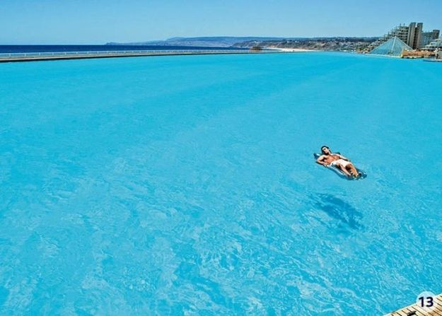 i must go here before i die-  World's Largest Swimming Pool in Chile!