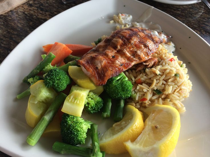 Salmon from BJ's restaurant at the falls mall