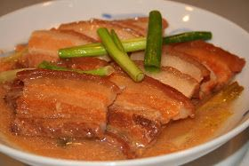"""PRINT RECIPE    What the heck is it?  For most that see this recipe it""""s not Kau Yuk as much as Kau """"YUCK"""".  Fatty belly pork (uncured bacon..."""