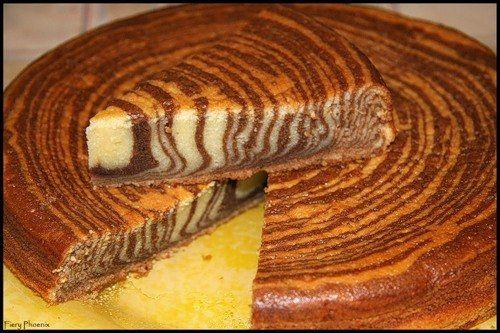 Новогодний рецепт: Тигровый торт- пирог (торт «Зебра»)