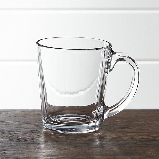 Tempo Clear Glass Coffee Mug | Crate and Barrel