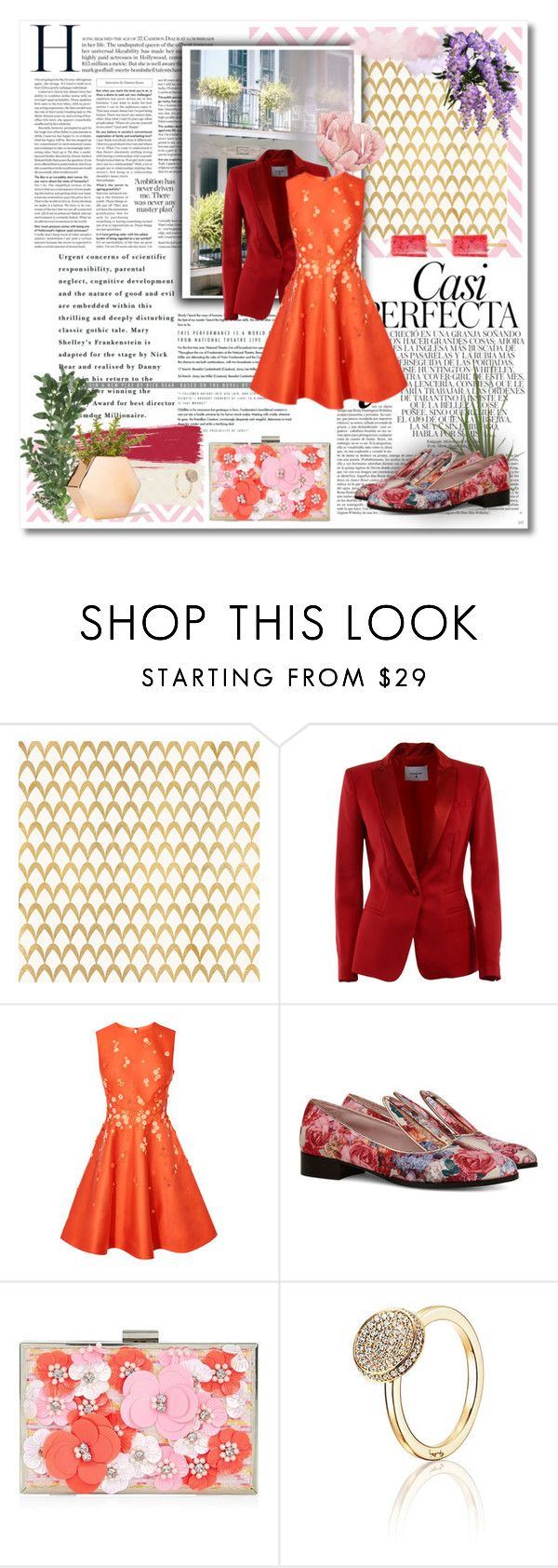 """Orange"" by annasalenkova on Polyvore featuring Whiteley, Barclay Butera, Thomsen Paris, Dondup, Minna Parikka, New Look, Lands' End and summerbrights"