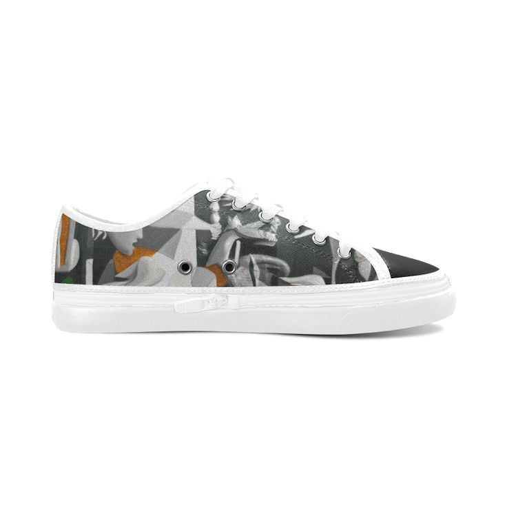 My Picasso Serie:Guernica Women's Nonslip Canvas Shoes (Model 001)