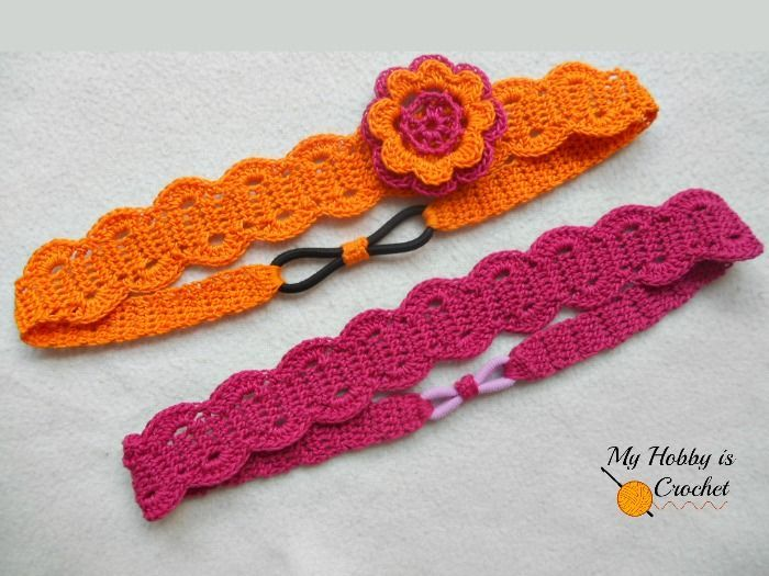 Crochet head band with flower - free pattern with tutorial