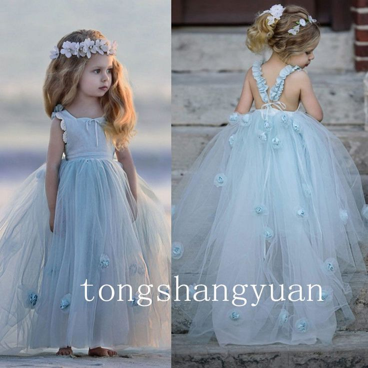 Ruffle Flower Handmade Flowers Birthday Party Formal Gowns Pageant