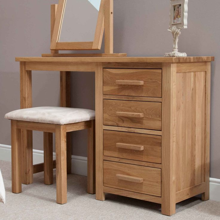 Opus Oak Dressing Table & Stool | Furniture4YourHome