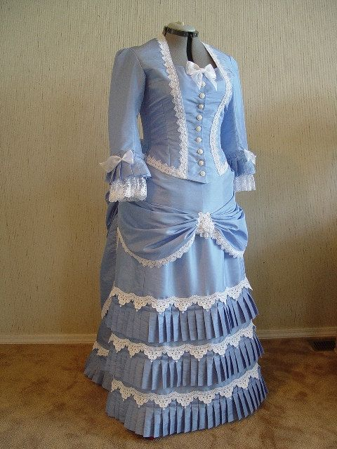 Victorian Bustle Dress Gown, SASS, Steampunk, Wedding, 1800s, Wild West, Reenactment via Etsy