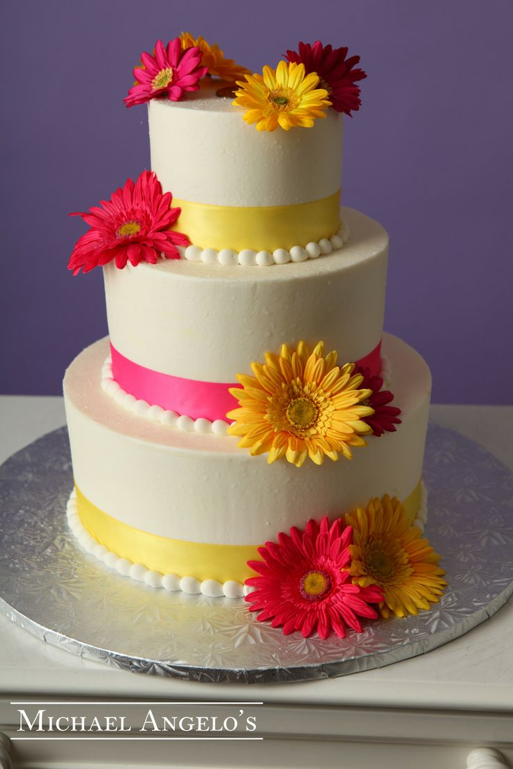 87 best tiered cakes images on pinterest biscuits pretty cakes pink yellow 44modern what a great way to add some fun to your wedding dhlflorist Image collections