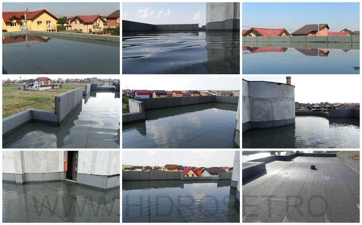 Hidroizolatii terase cu membrane de impermeabilizare. Teste de etansare la apa facute prin inundatie.