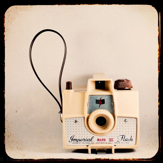 Vintage Camera Decor yellow toy camera retro by TraceyCapone