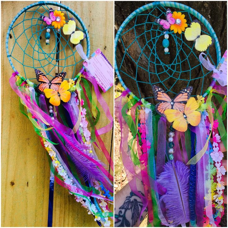 Butterfly pastel dream catcher #dreamcatcher #boho #colorful https://www.etsy.com/listing/291232595/colorful-butterfly-dream-catcher