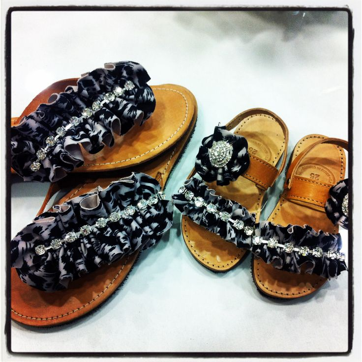Animal print sandals!!!
