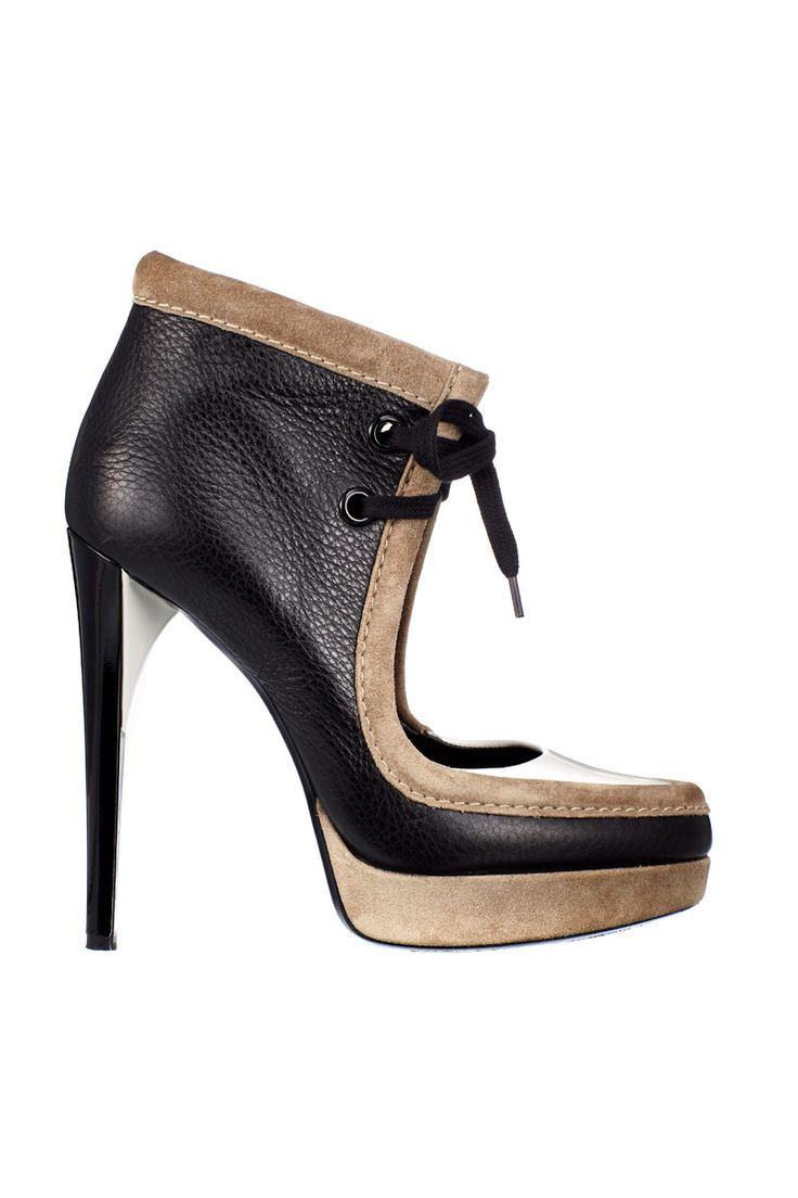 Tri-Tone Leather Heel, price on request; rodarte.net   - ELLE.com: