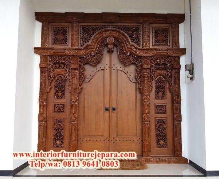 Pintu Rumah Ukiran Murah Aneka Pintu Gebyok Jati Bentuk Pintu