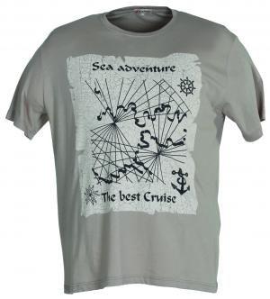 T-Shirt Uomo Taglie Oversize Max Fort   T-shirt   23808 NERO