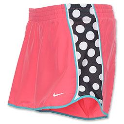 polka dot nike shorts! so cute and I love the coral and aqua
