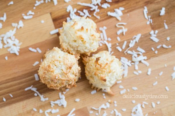 week 35: protein coconut macaroons | delicious by dre