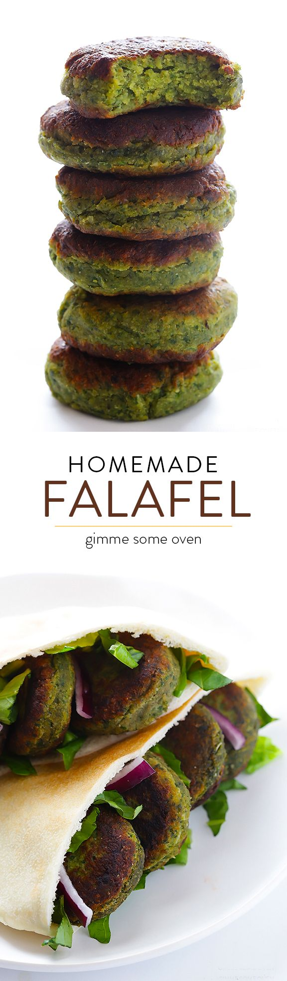 This falafel recipe is full of fresh ingredients, easy to make, and irresistibly good! | gimmesomeoven.com #ahealthyfoodie