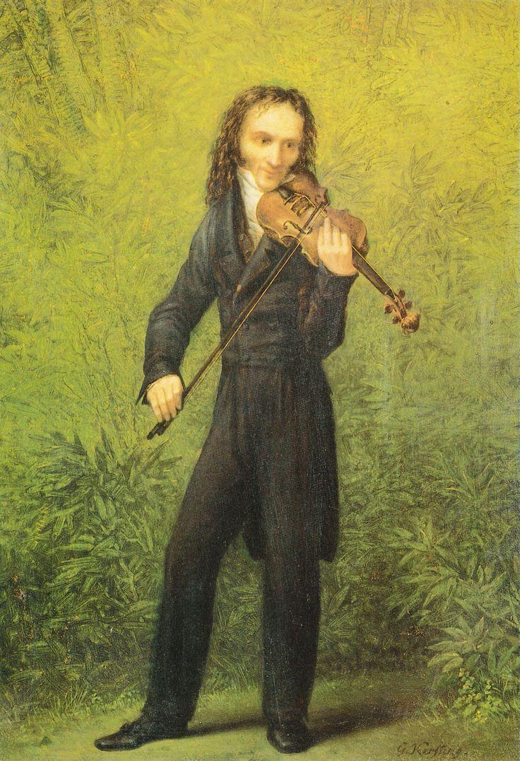Gerg Friedrich Kersting - Il violinista Nicolò Paganini