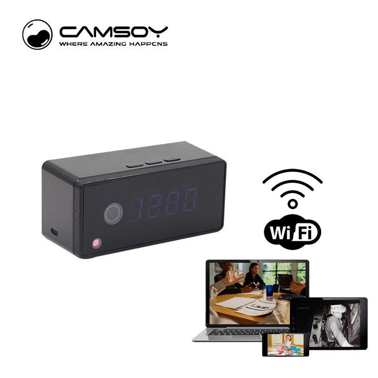 Cheaper US $49.41  Intercom Function Table Clock Camera 720P HD Wifi IP P2P Camera Mini Camera Infrared Night Vision Voice Recorder Mini DV Camera   #Intercom #Function #Table #Clock #Camera #Wifi #Mini #Infrared #Night #Vision #Voice #Recorder  #Online