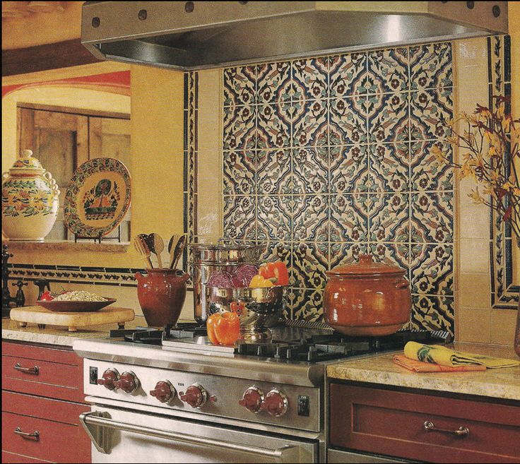 48 best backsplash images on pinterest home ideas for Spanish style kitchen backsplash