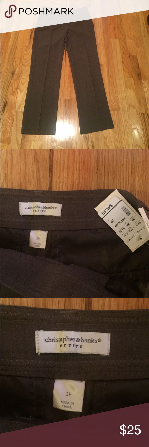 Christopher & Banks NWT brown slacks Christoper & Banks brown slacks - NWT -classy! Christopher & Banks Pants