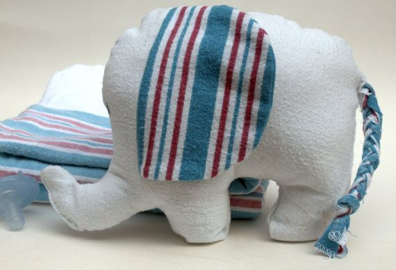 Hospital Receiving Blanket Keepsake Elephant - what an ADORABLE idea. A wonderful way to have your baby's blanket preserved.