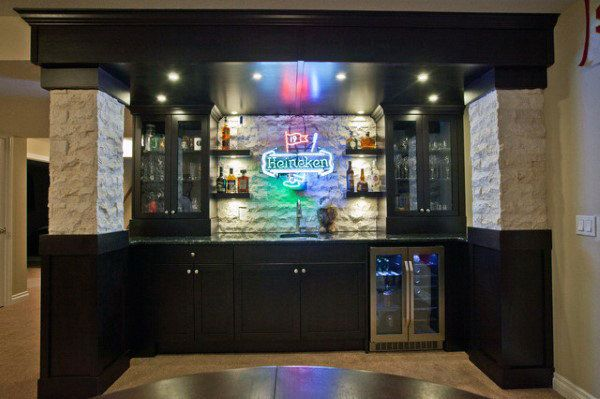 50 Man Cave Bar Ideas To Slake Your Thirst Manly Home Bars Man Cave Bar Bars For Home Small Man Cave