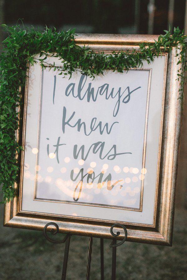 """I always knew it was you"""" glam wedding print"""
