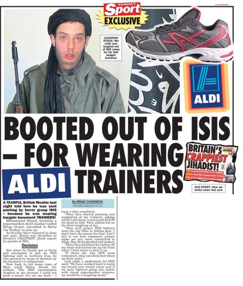 "This bloke's crushed jihadi dreams. | 24 Headlines That Prove The ""Sunday Sport"" Is Britain's Best Newspaper"