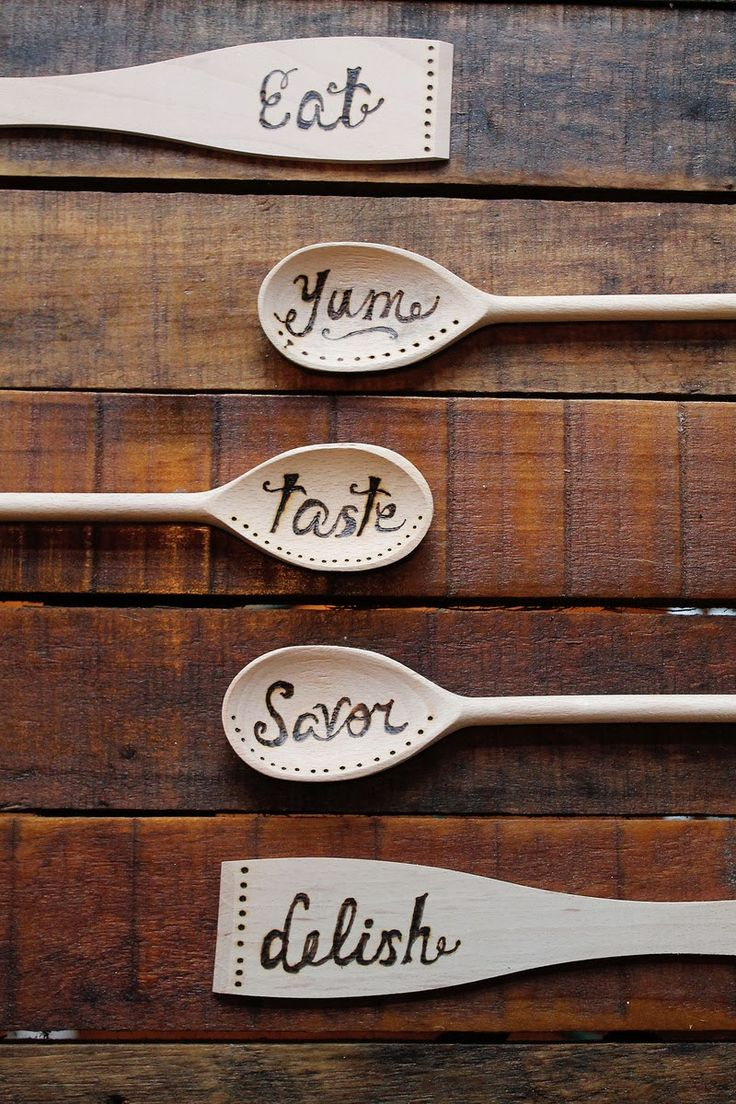 Primitive wood crafts to make - How To Wood Burned Spoons Wood Burning Projectswood