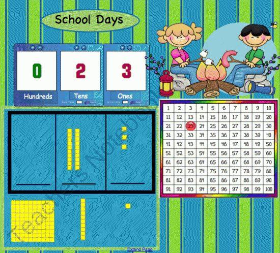 Calendar Math Kindergarten Smartboard : Pg smartboard math meeting with calendar and
