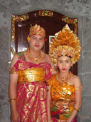 Balinese Traditional Wedding Costume
