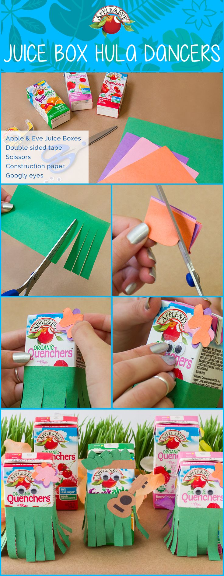 Aloha, fans!  ☀   Enjoy a luau in the comforts of your own home with this craft for the kids.