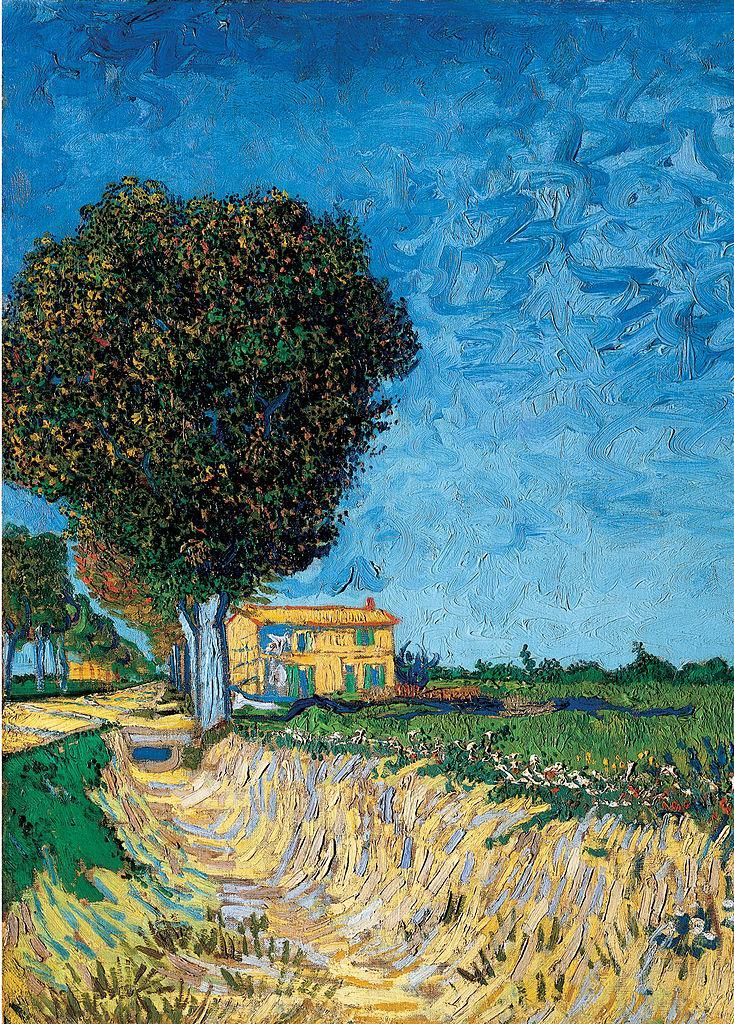 A Lane near Arles by Vincent van Gogh. Visit shop.holland.com for Dutch design home and fashion gifts inspired by #VGogh
