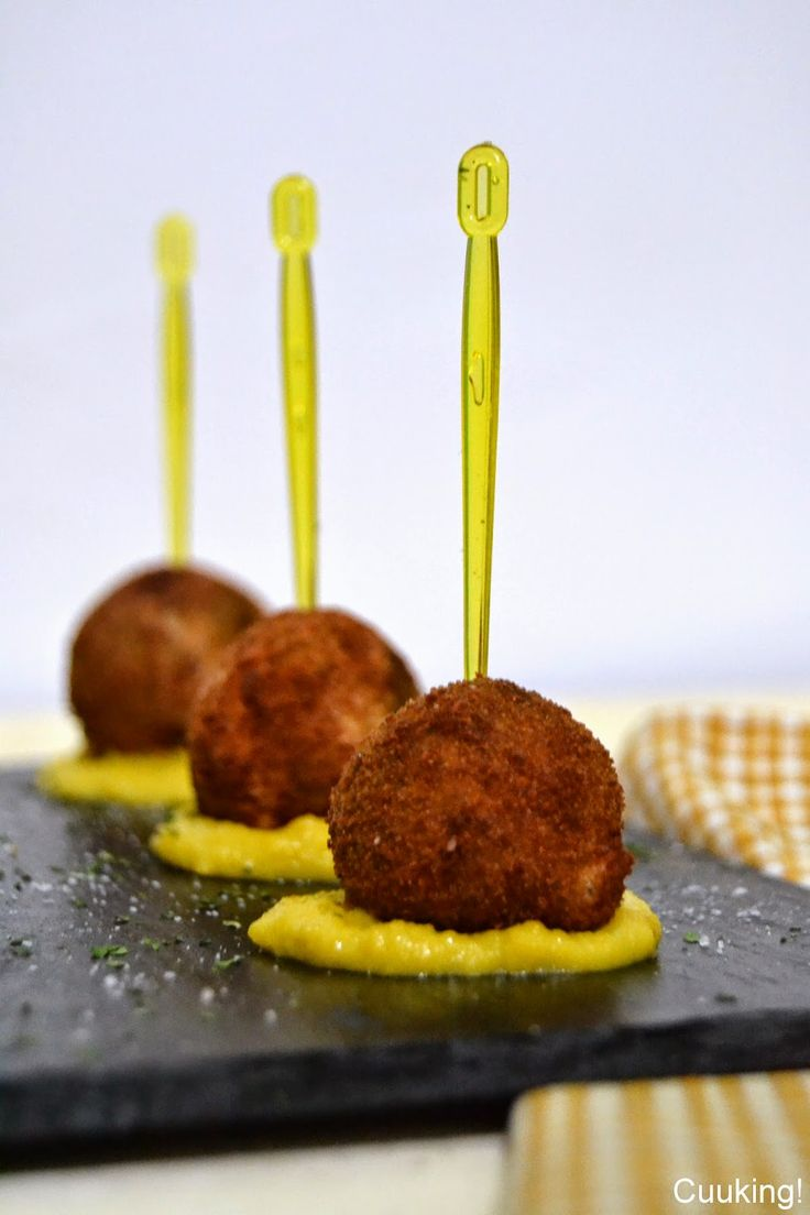 Croquetas de morcilla con crema de maíz dulce | Cuuking! Recetas de cocina