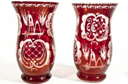 Bohemian glass, c. 1950 - Czech traditional glass