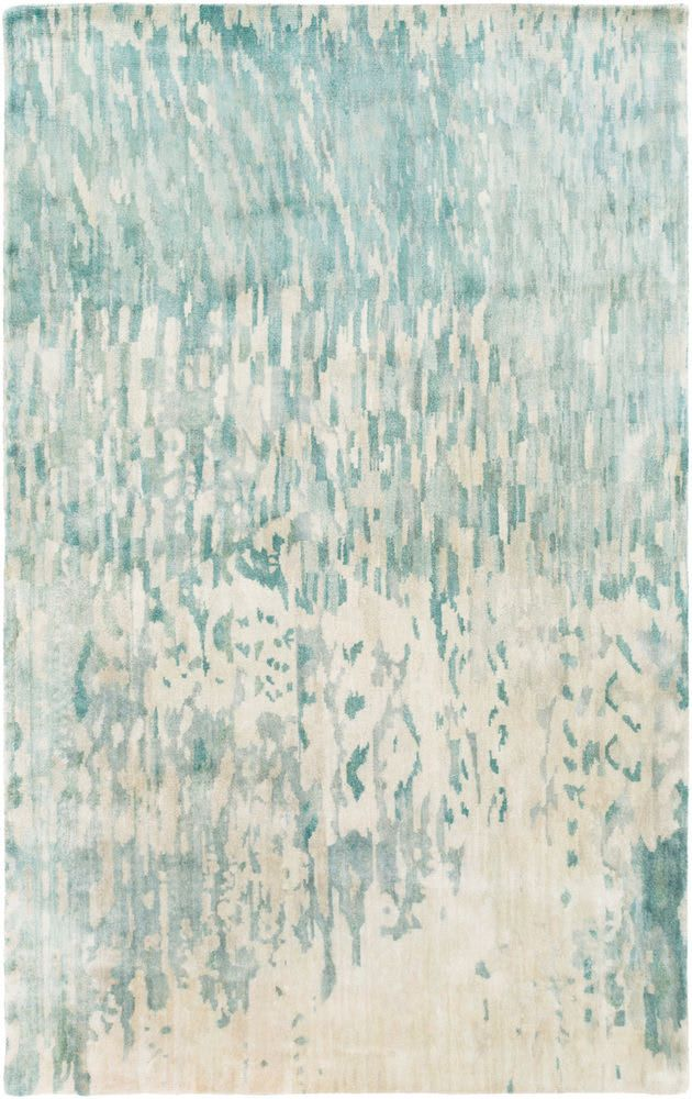 Surya Watercolor Wat 5004 Green Blue Area Rug Area Rugs Blue