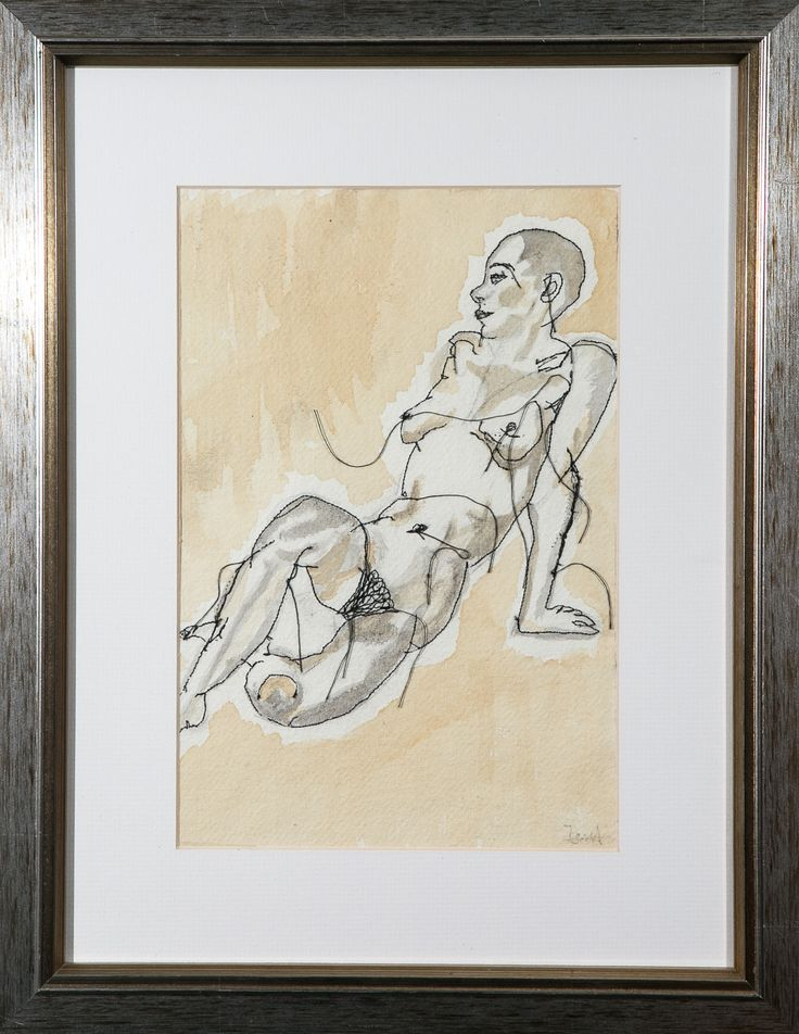 Nude II Mixed Media on Paper Tess Ainley