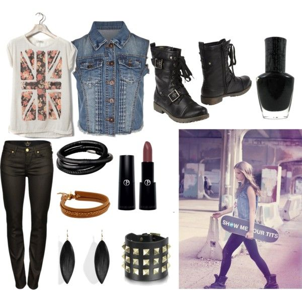 """Skater Girl Look Inspired"" by initag on Polyvore"