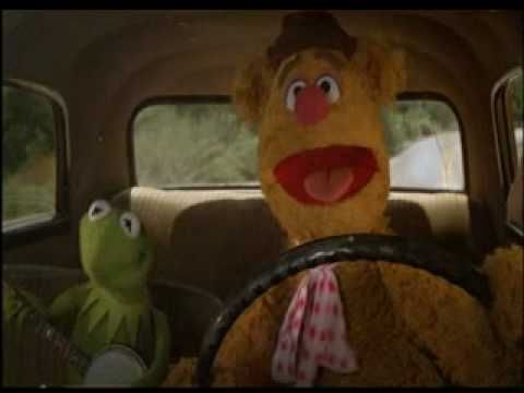 "Kermit the Frog and Fozzie Bear singing while driving in the ""The Muppet Movie"" (1979)"