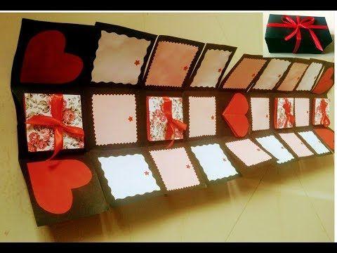 Endless Box Tutorial Infinity Box Tutorial Never Ending Box Youtube Diy Exploding Box Gift Box Template Cards Handmade