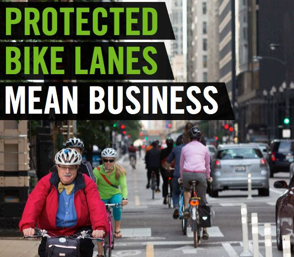 4 reasons why protected bike lanes mean business