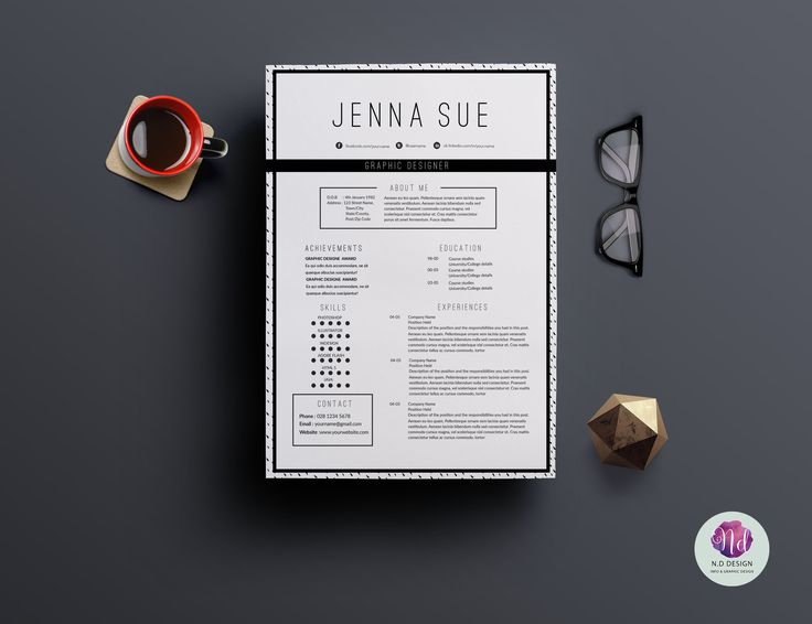 71 best CV images on Pinterest Cv ideas, Design resume and - two page resume samples