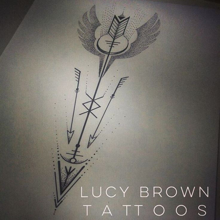 Viking Valkyrie arrow with rune symbols... Design commission Copyright of #lucybrowntattoos