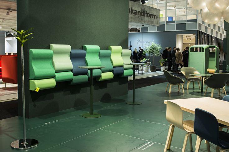 Lean In wall bench, design: Kaja Solgaard Dahl | Centrum table, design: Sandin & Bülow | Cactus coat stand, design: Jesper Ståhl | Neo Lite chair, design: Fredrik Mattson | Pax easy chair, design: Fredrik Mattson