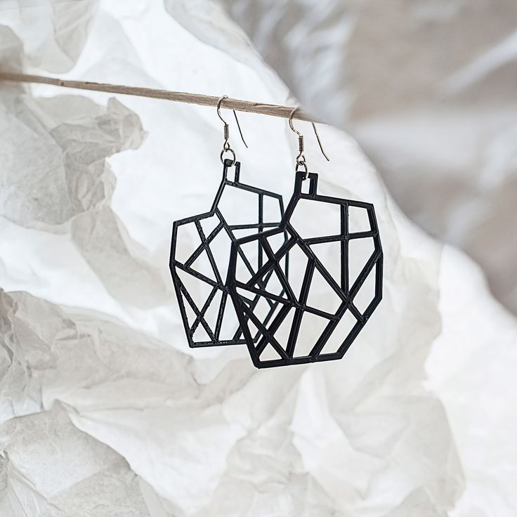 My new #stylish #minimalistic #design of #earrings #3Dprinted with #silver afro hooks You can order them on Etsy.com: https://www.etsy.com/listing/270935259/spacelights-3d-printed-earrings?ref=shop_home_active_1