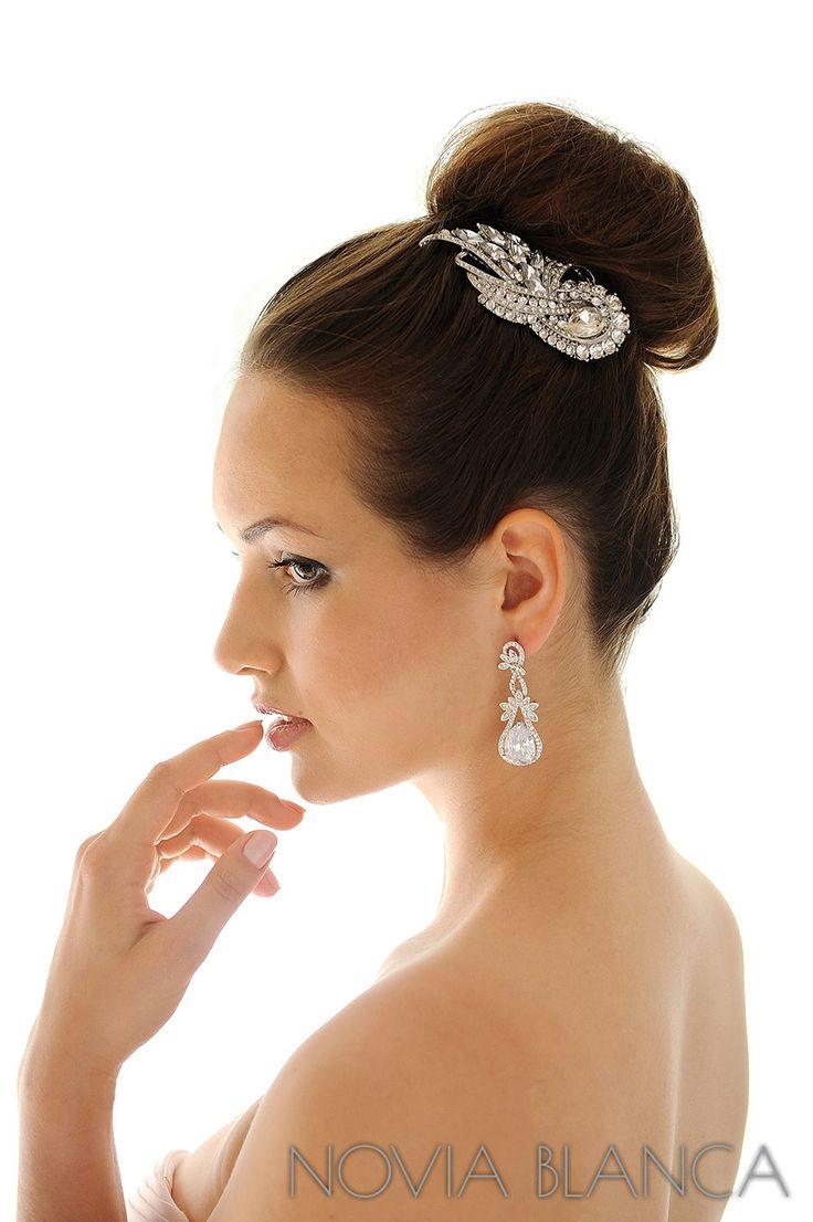 bridal comb and earrings by NOVIA BLANCA biżuteria ślubna www.novia-blanca.pl